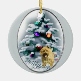 Ornamento de los regalos del navidad de Terrier de Adornos De Navidad
