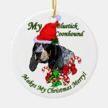 Ornamento de los regalos del navidad del Coonhound Ornaments Para Arbol De Navidad