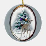 Ornamento de los regalos del navidad del galgo ita ornato
