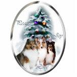 Ornamento de los regalos del navidad del perro pas esculturas fotograficas
