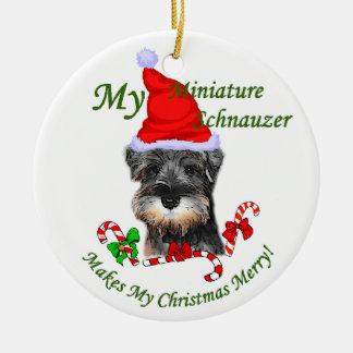 Ornamento de los regalos del navidad del Schnauzer Adorno De Navidad