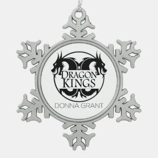 Ornamento de los reyes del dragón adorno de peltre en forma de copo de nieve