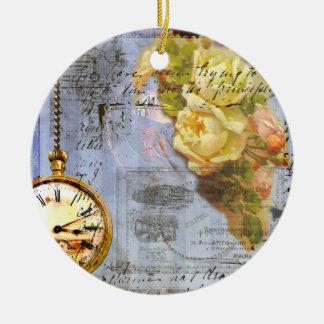 Ornamento de los rosas amarillos y del navidad del ornaments para arbol de navidad