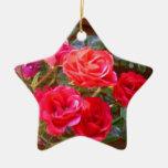 ornamento de los rosas rojos adorno de navidad