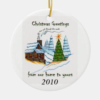 Ornamento de los saludos 2010 del navidad adorno de reyes