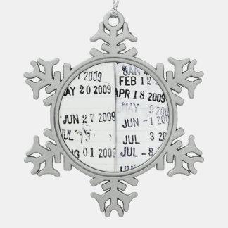 Ornamento de los sellos de fecha de la biblioteca adorno