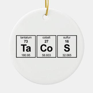 Ornamento de los TaCoS Adornos De Navidad