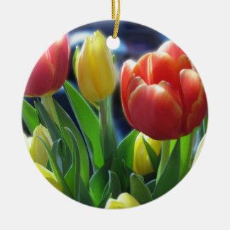 Ornamento de los tulipanes adorno de reyes