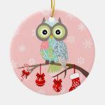 Ornamento de lujo enrrollado del navidad del búho ornamento de reyes magos