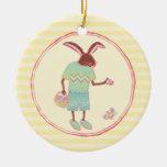 Ornamento de lúpulo del conejito de pascua ornamentos de reyes magos