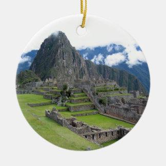 Ornamento de Machu Picchu Adorno Redondo De Cerámica