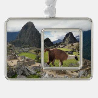 Ornamento de Machu Picchu Marcos De Adorno Plateado