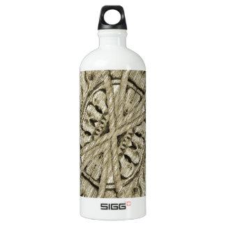 Ornamento de madera botella de agua