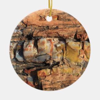 Ornamento de madera del modelo de Brown Adorno Navideño Redondo De Cerámica