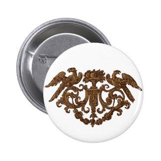 Ornamento de madera doble de Eagle Pin Redondo De 2 Pulgadas