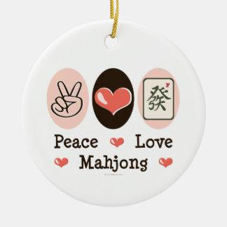 Ornamento de Mahjong del amor de la paz Ornamento De Navidad