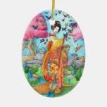 Ornamento de Maiko del verano, mariposa del geisha Adornos