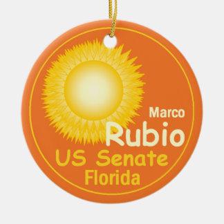 Ornamento de Marco RUBIO Adorno Navideño Redondo De Cerámica