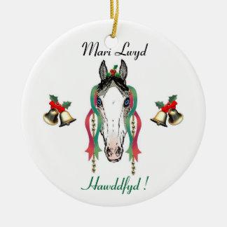 Ornamento de Mari Lwyd Adorno De Navidad