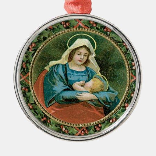 Ornamento de Maria y del niño Adorno Para Reyes