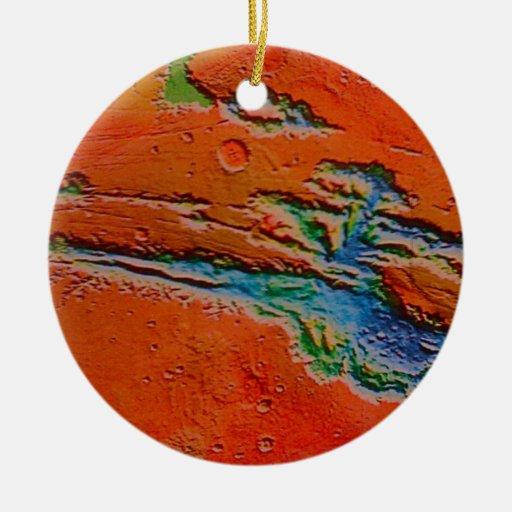 Ornamento de Marte #2 Adorno Redondo De Cerámica