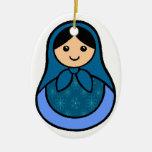 Ornamento de Matryoshka del copo de nieve Ornamentos De Navidad