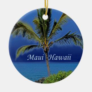 Ornamento de Maui Hawaii Adorno Redondo De Cerámica