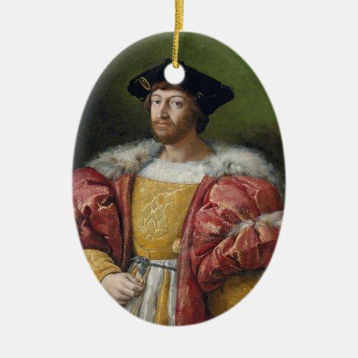 Ornamento de Medici del de Lorenzo II Adorno Navideño Ovalado De Cerámica