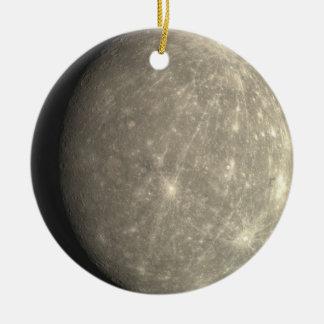 Ornamento de Mercury Adorno Navideño Redondo De Cerámica