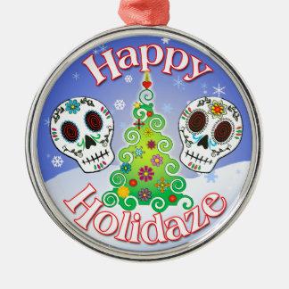 Ornamento de metal del cráneo del azúcar de Holida Ornamente De Reyes