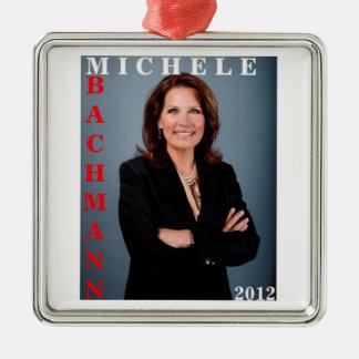 Ornamento de Micaela Bachmann 2012 Adorno Navideño Cuadrado De Metal