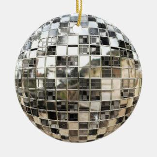 Ornamento de Mirrorball del disco Adorno Redondo De Cerámica