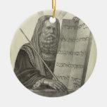 Ornamento de Moses Adorno Redondo De Cerámica