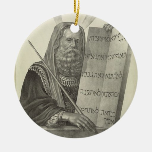 Ornamento de Moses Adornos De Navidad