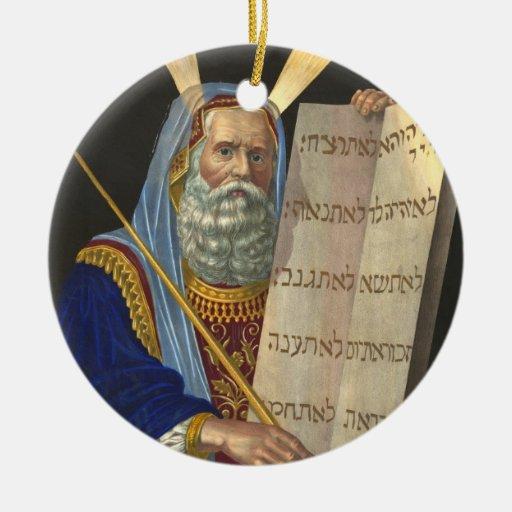 """Ornamento de """"Moses y de los diez mandamientos"""" Ornamento Para Arbol De Navidad"""