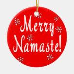 Ornamento de Namaste de las Felices Navidad Ornamento De Reyes Magos