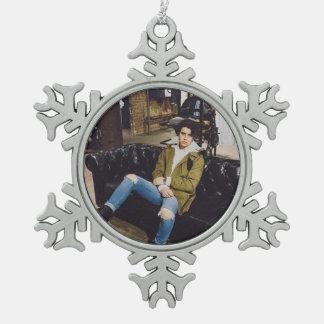 Ornamento de Nash Grier Adorno De Peltre En Forma De Copo De Nieve