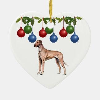 Ornamento de Navidad de great dane