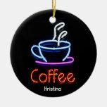 Ornamento de neón de la muestra del café ornamento de reyes magos