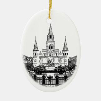 Ornamento de New Orleans de la catedral de St. Ornamento De Reyes Magos