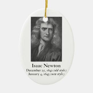 Ornamento de Newton Adorno Navideño Ovalado De Cerámica