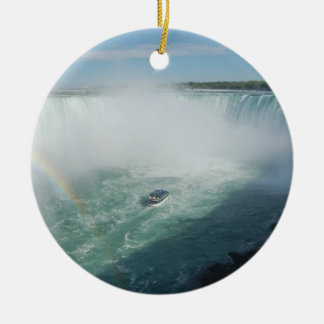 Ornamento de Niagara Falls Adorno Navideño Redondo De Cerámica