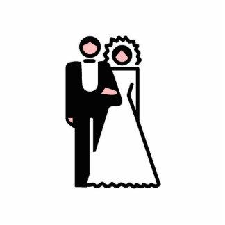 Ornamento de novia y del novio adorno fotoescultura