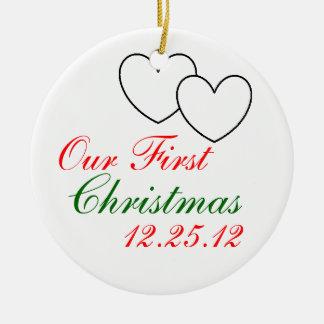 """Ornamento de """"nuestro primer navidad"""" ornaments para arbol de navidad"""