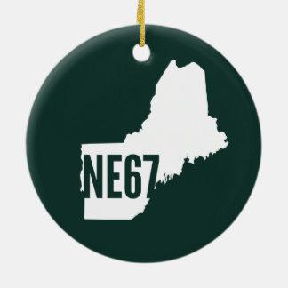 Ornamento de Nueva Inglaterra 67 Adorno Navideño Redondo De Cerámica