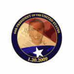 Ornamento de Obama Ignauguration Adorno Fotoescultura