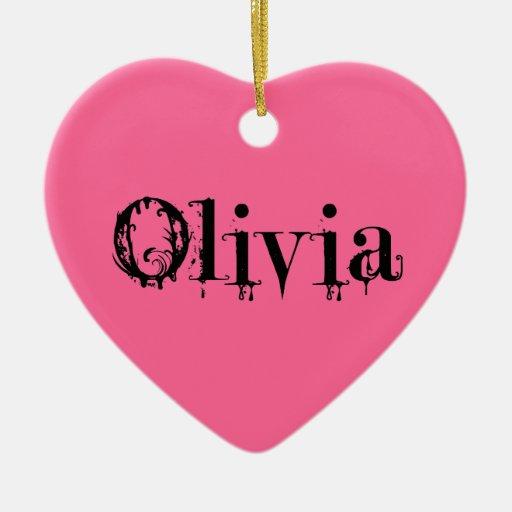 Ornamento de Olivia Ornamento Para Arbol De Navidad
