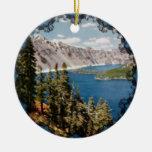 Ornamento de Oregon del lago crater Ornamento De Navidad