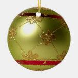 Ornamento de oro de la bola del navidad del orbe ornamento para reyes magos