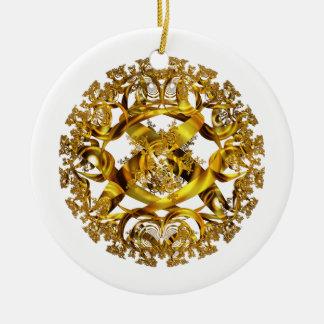 Ornamento de oro de la gama del orbe ornamento para reyes magos